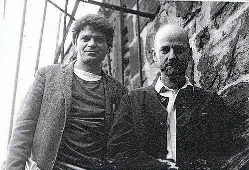 Gregory Corso & Lawrence Ferlinghetti  Upon his death, Ferlinghetti said this about Corso: …he was always in your face, often not singing sweetly, but challenging you in some wild way, daring you or putting you on, shaking you up or at least mocking your ordinary way of looking at things. How many times did I hear him interrupt some solemn voice on stage with a loud shout from the back of the hall, comic or obscene, the outsider challenging the whole scene? But he was no mere egocentric wiseacre. He was a tragi-comic poet with a crazy sense of humor…