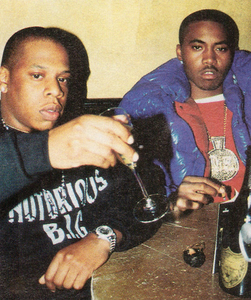 hiphopfightsback:  Jay-Z & Nas  There's only one O.G. in this photo and that's Nas