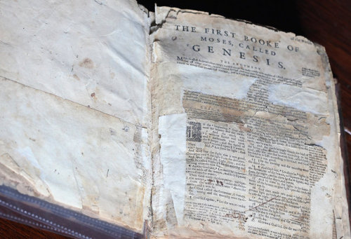 njdotcom:  This Bible is about 400 years old and details some of New Jersey's earliest settlers. And it finally came home to Elizabeth.