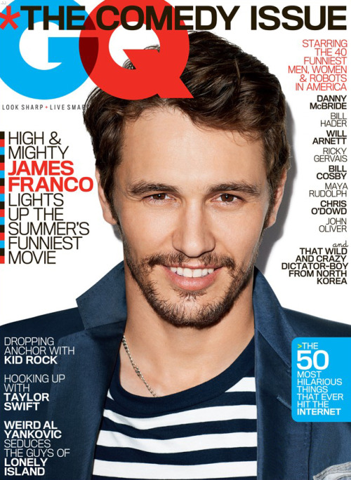 James Franco covers GQ's Comedy Issue 2013 [ko]
