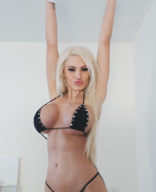 "bimboeyes:  Nothing sexier than a girl who chooses to inflate her tits to cartoonish proportions. A look that says ""I'm just a pair of big tits to grab and holes to stuff your cock into.""  She knows she's just a girl.  That she belongs on her knees with her lips wrapped firmly around some guys dick while another nameless guy fills her needy pussy full of hot cum. That is her place."