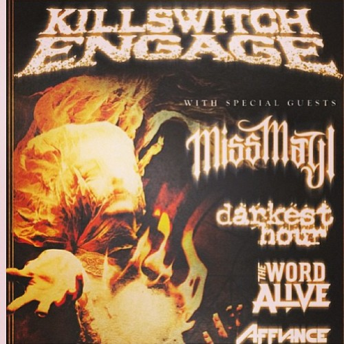 New flyer for the Disarm the Descent tour with #KillswitchEngage #MissMayI #DarkestHour #TheWordAlive and #Affiance !!