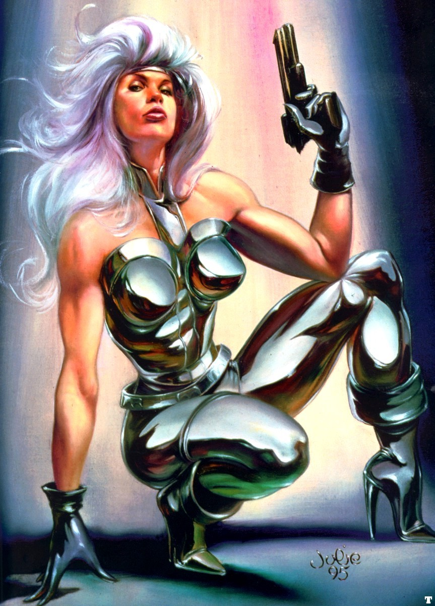 Characters I love:  Silver Sable  Silver Sable by Julie Bell [ Marvel comics ]