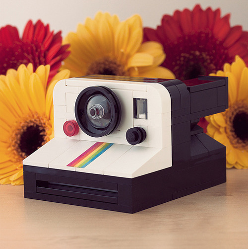 LEGO Polaroid OneStep Rainbow camera by powerpig (watch gif of instant photo)