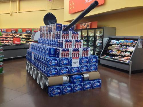 lilrcpht:  'MURICA!! At its finest. Beer tanks at Walmart. Found this little gem today at my local walmart.