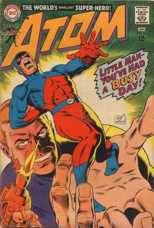 comicbookcovers:  The Atom #34, January 1967, cover by Gil Kane and Murphy Anderson