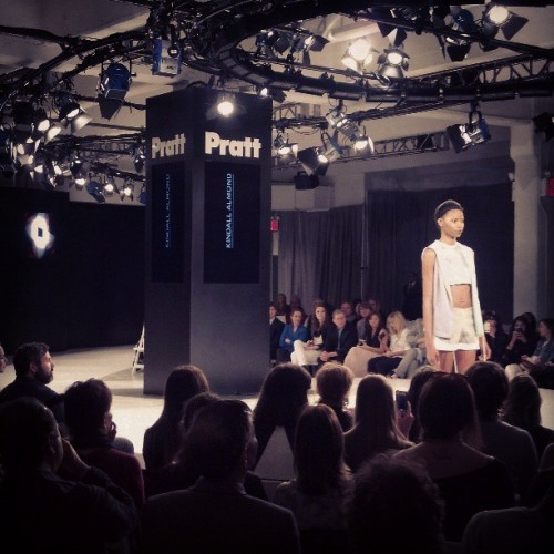 The show has begun: #Pratt class of '13 #fashionshow.