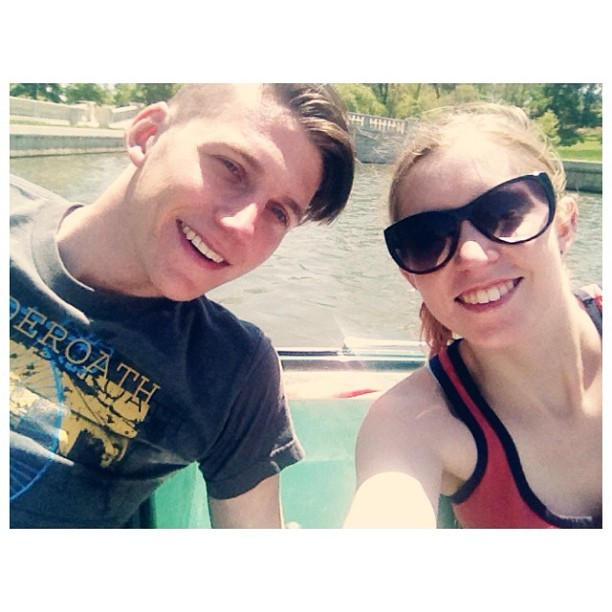 Boat ride in forest park for Alex's bday :)