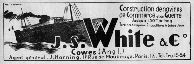 Building boats in CowesCourtesy of Messrs J S White.The White family started building boats in Broadstairs in the 1700s and subsequently moved to Cowes in 1802 where the firm built over 2000 vessels before the yards closed in 1963. the firm finally became defunct in 1981.Amongst many alumni of J.S.Whites was one Barnes Wallis who finished his apprenticeship there before becoming a marine draughtsman.An advertisement from my collection dated March 1949.
