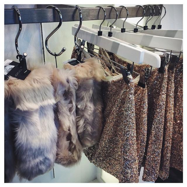 Sequins and faux fur at #topshop today 💭 (at Topshop (Knightsbridge))