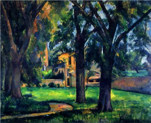 Paul Cezanne - Chestnut Tree and Farm (1885)