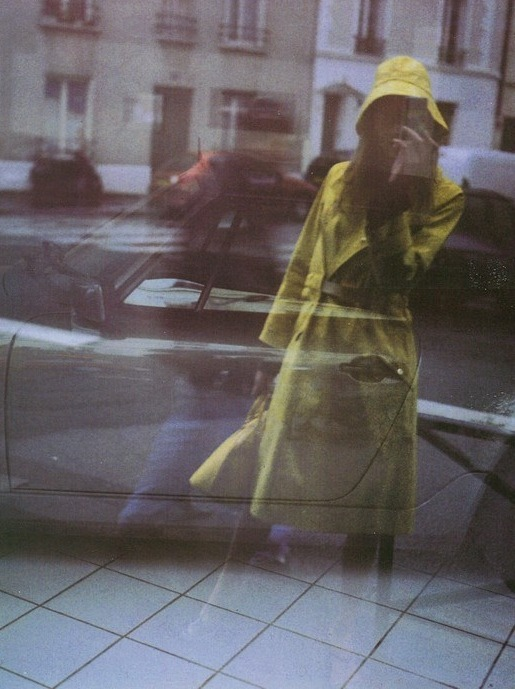 self portraits with trench, paolo roversi for vogue italia, march 2000
