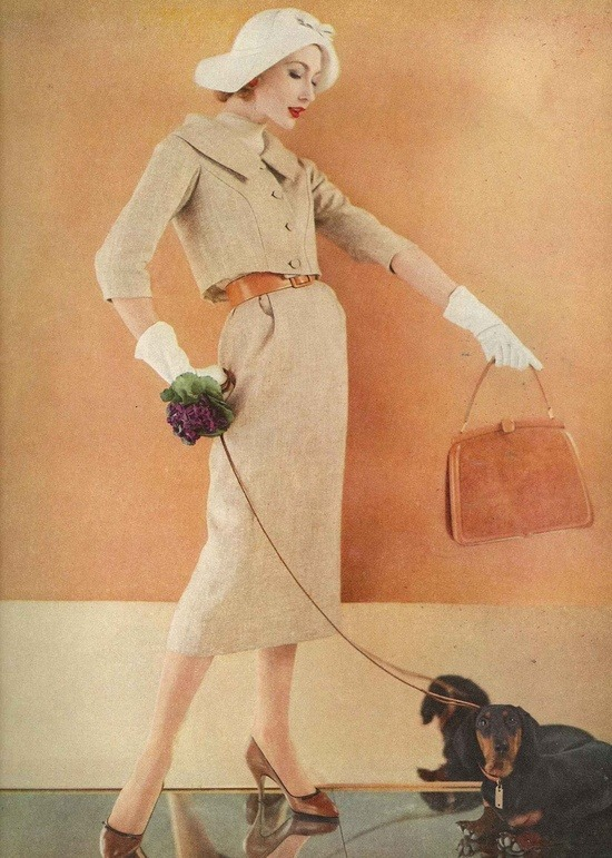 theniftyfifties:  Photo by Karen Radkai for Vogue, November 1958.