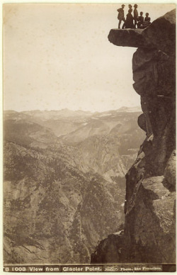 adanvc:  View From Glacier Point Yosemite, 1880s. by Isaiah W. Taber