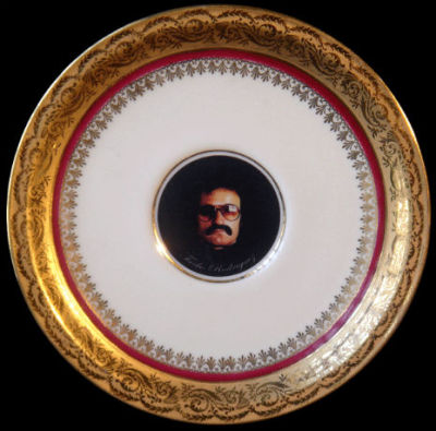 French porcelain Giorgio Moroder platter by Pierre Blanc. You don't understand. I must have this. It matches my great-grandmother's Limoges tea set. I'm serious.