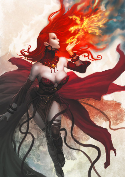 senseorsensuality:  Maiden of Fire by *kunkka