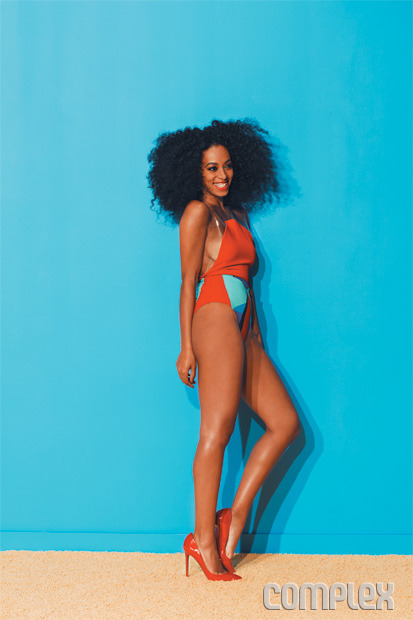 Solange Knowles covered Complex magazine this month and let me just say, holy cow, she looks stunning. Her spread is fierce, colorful, and flat out sexy. This girl certainly knows how to hold her own against her sister. Let me just go ahead and snag those candy-colored pumps, and possibly that hair.