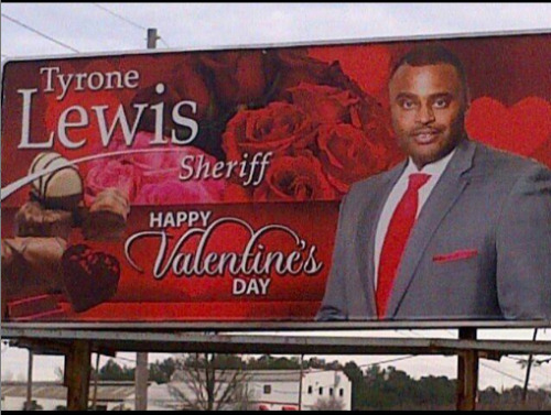 Happy Valentine's Day from the sheriff of Hinds County, Mississippi Via