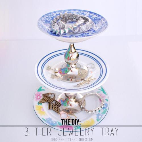 craftdiscoveries:  (via OH SO PRETTY the DIARIES: the DIY: 3 TIER JEWELRY TRAY)
