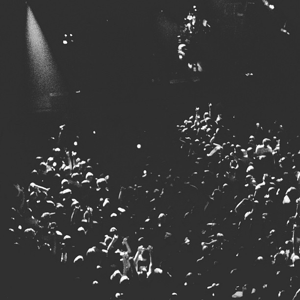 Deftones in ATL #deftones #atlanta #tabernacle #crowd #blackandwhite #vscocam (at The Tabernacle)