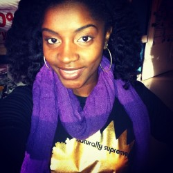 12.12.12 Feeling royal 👑 with my @naturallysupreme gold and my purple scarf.