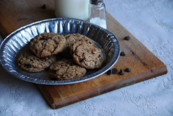 Whole Wheat Salted Chocolate Chip Cookies.