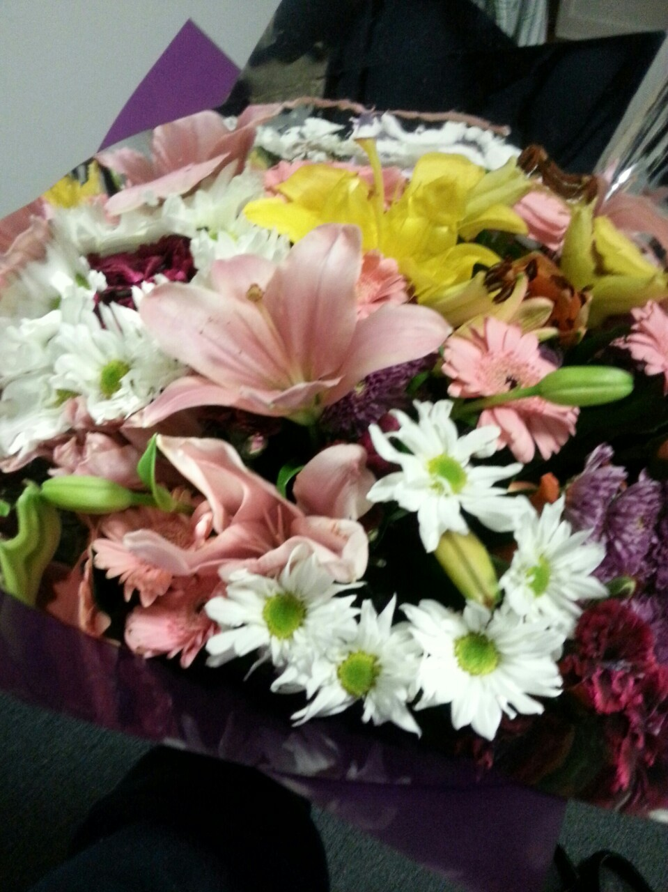Beautiful flowers from a beautiful boy.