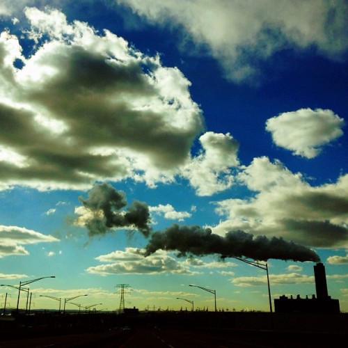 Smoke vs Clouds #smokestacks #nj #newjersey #I95 #pollution #industry #carboncredits #carbonfootprint #environment #globalwarming #sunset #tgif #iphoneonly #bestoftheday #instagramhub #picoftheday #photooftheday #instagood #instahub #instagramhub #igers #igdaily #instadaily #webstagram #statigram