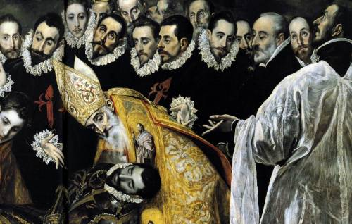 vizualvocabulary:   The Burial of the Count of Orgaz detail 5 by El Greco, 1586-1588