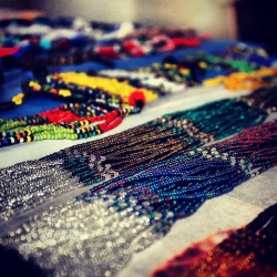 Along with sewing and knitting, beadwork helps granny's generate income to support their families and also practice a traditional Zulu artform