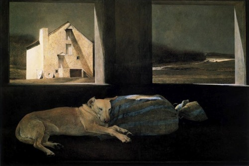 nunofgouveia1:  Andrew Wyeth, Night Sleeper, 1979
