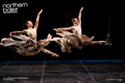 Northern Ballet dancers Keiko Amemori & Martha Leebolt performing in Mark Godden's Angels in the Architecture (via Angels in the Architecture photos | Northern Ballet)