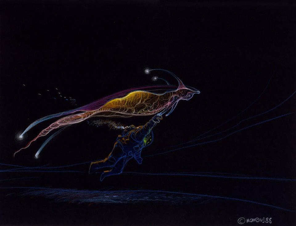 Moebius' work on Abyss, 1988