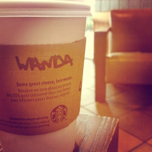 Today, my name is Wanda. @starbucks #coffee #centralfeed #all_shots #instagramhub #igers #igdaily #igersokc #igersoklahoma #ig_captures #ig_snapshots  (at Starbucks Coffee)