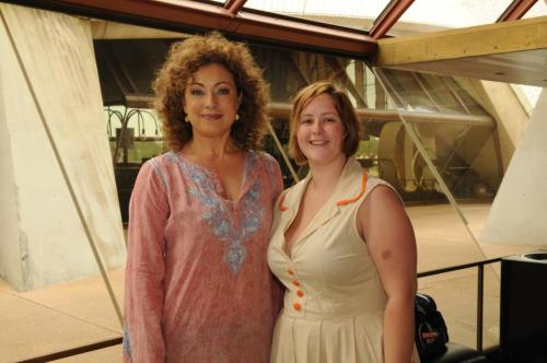 On Friday I met and interviewed Alex Kingston. She's delightful. She is just so beautiful. I also met and interviewed Mark Williams and Murray Gold. Happy times.