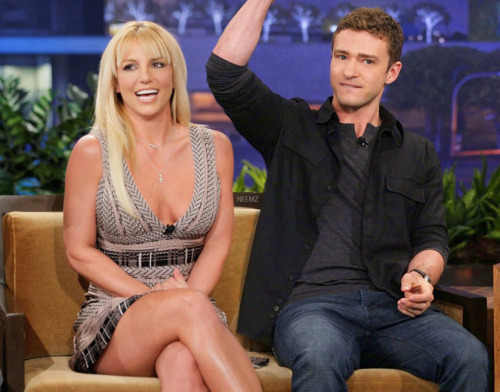 Britney Spears & Justin Timberlake announce their engagement on the Tonight Show With Jay Leno in 2013.