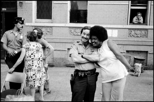 "Leonard Freed - ""Isn't he cute,"" she said. New York City, 1972"