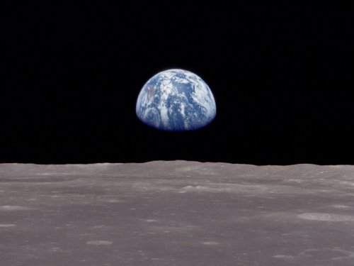 Earthrise is the name given to a photograph of the Earth that was taken by astronaut William Anders in 1968 during the Apollo 8 mission.