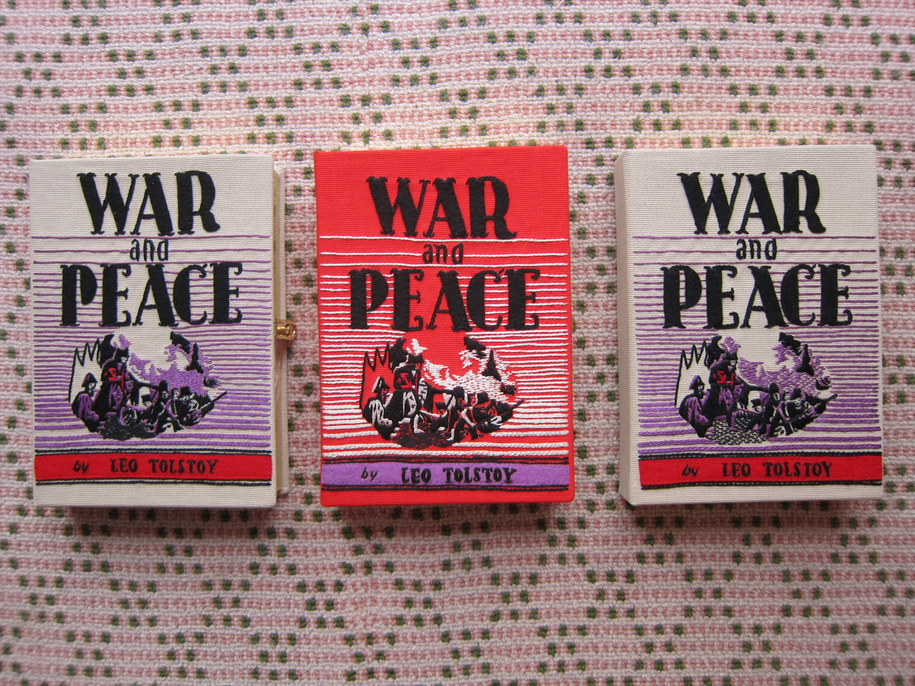 War and Peace book-clutch by Olympia Le-Tan.