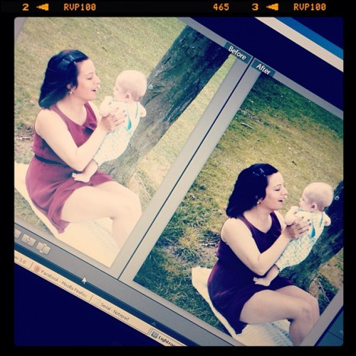 #sneak #peak at #yesterdays #photoshoot totes a #cute shoot - #love #before and #after shots - #baby #mother #park