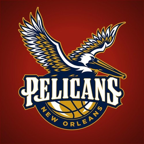 "cajunboy:  Swoon.  Not sure how I feel about this. The New Orleans Hornets logo with the fleur de lis as the wings of the hornet was, in my opinion, one of the coolest logos I've seen. This looks good and I like the typeface but I don't know about the ""Pelicans"". My vote was for New Orleans Krewe. It was up for discussion and I thought it was a good name with ties to the city. Maybe it'll grow on me."