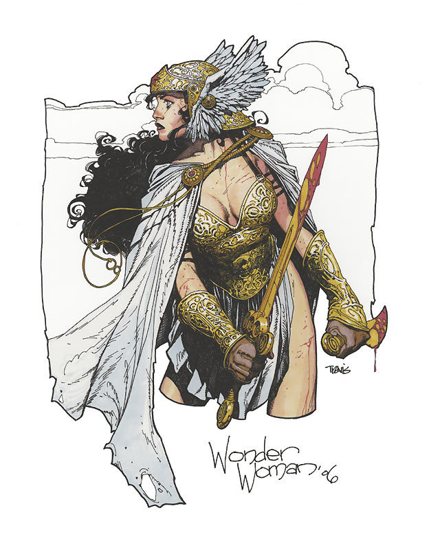 brianmichaelbendis:     Wonder Woman by Travis Charest!