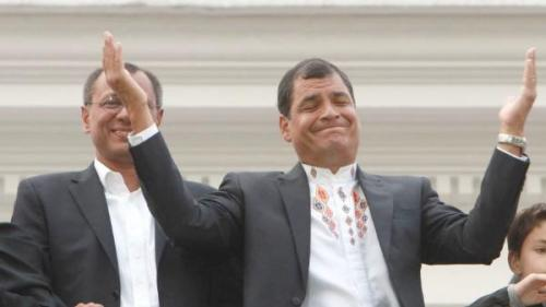 Correa's Win in Ecuador Due to Financial Reform Policies The successful re-election effort of Ecuadorean President Rafael Correa on February 17, where he received close to 58 percent of the vote in that majority indigenous country, came as a result of the popularity and success of his economic policies according to a team of United States economists.