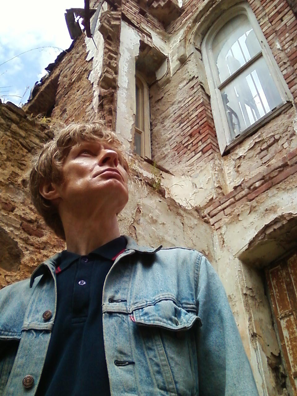 5/13/13 JG Thirlwell on the island of ‪Büyükada‬ in Turkey, at the ruins of the house where Trotsky stayed for a year before he escaped to Mexico (where he was ultimately ice-picked). Photo by Tod A.