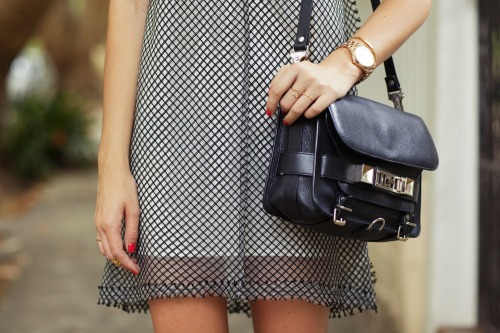 what-do-i-wear:  Ellery dress,  Proenza Schouler bag,  Michael Kors watch, Jacquie Aiche rings, Gorjana cuff (image: tuulavintage)