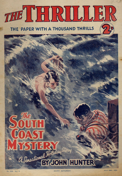 John Hunter - The South Coast Mystery, The Thriller magazine, July 19th 1933 (1013 x 1455)