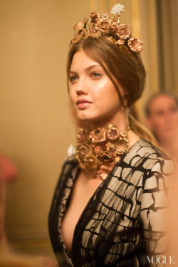 suicideblonde:  Lindsey Wixson at Giambattista Valli Couture Spring/Summer 2013