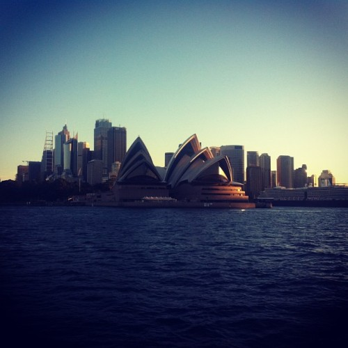 One more? Forgive me, trying to kill time at work. #sydney #harbour #operahouse #sky #igdaily