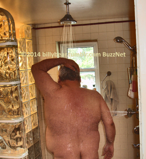Your humble narrator. Shower Sunday. Rear view.