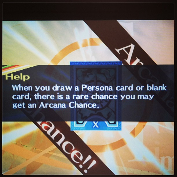 "Anyone who's familiar with P4 care to enlighten me on what this ""Arcana Chance"" thingy is? #p4 #persona #persona4 #arcana #arcanachance #ps2"
